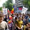 7000 de persoane au manifestat pentru unirea Basarabiei cu Romania la Chisinau. VIDEO