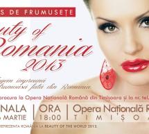 """Concursul national de frumusete """"Beauty of Romania 2013"""