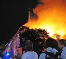 Incendiu la Castelul din Riga, sediul presedintiei Letoniei