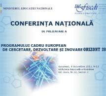 Conferinta Nationala de prezentare a Programului-cadru european Orizont 2020
