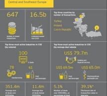 EY: Piata de fuziuni si achizitii din Romania a crescut cu 250% in prima jumatate a anului 2015