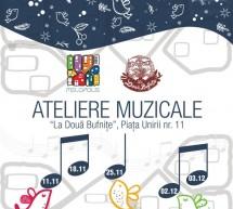 Ateliere muzicale interactive pentru copii la Libraria La Doua Bufnite