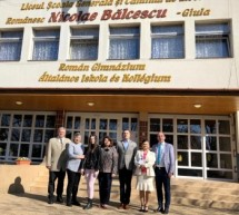 "Delegatia Universitatii ""Eftimie Murgu"" din Resita, in vizita la Liceul Nicolae Balcescu din Gyula"