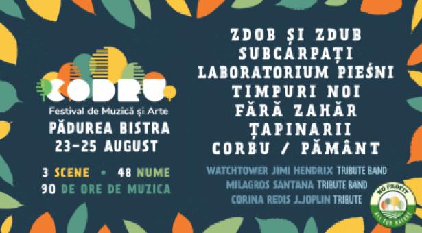 CODRU – festival non-profit pentru împădurit! Pădurea Bistra (Timiș), 23-25 august 2019