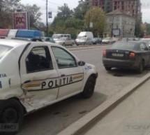 Masina de politie implicata intr-un accident la Timisoara