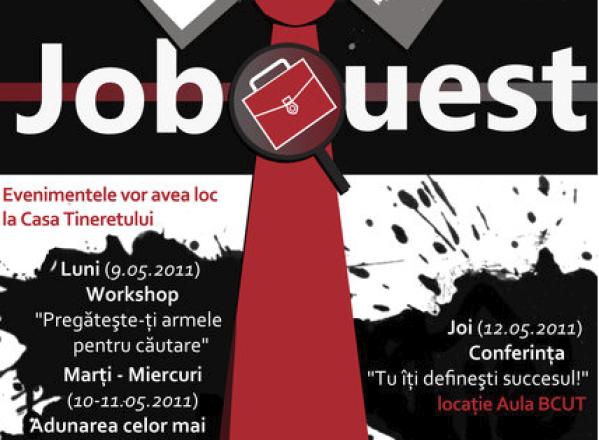 Încă o oportunitate pentru studenţi – JobQuest