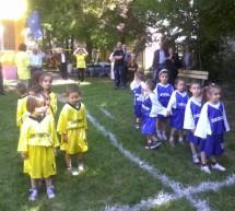 La gradinita PP 24 din Blascovici copii joaca rugby. FOTO