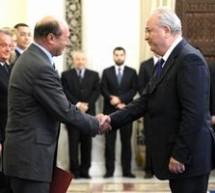 Basescu: Cat exista respect pentru Presedintie, din partea mea va exista total respect pentru Guvern