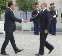 Vladimir Putin in vizita la Palatul Elysee, unde va discuta cu Francois Hollande despre situatia din Siria