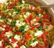 Specialitate de pui cu legume si branza
