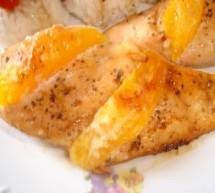Piept de pui cu miere si portocala