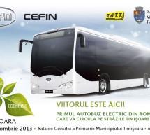 Primul autobuz electric destinat transportului in comun la Timisoara