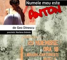 """Lansare de carte """"Numele meu este Anton"""""""