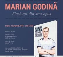 "Politistul Marian Godina prezinta volumul ""Flash-uri din sens opus"" la Timisoara"