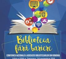 """BIBLIOTECA FARA BARIERE"", 7-9 septembrie 2016, Timisoara"