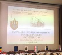 """Conferinta """"Pastrarea limbii si valorilor"""" la Szarvas, in Ungaria"""