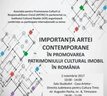 Importanţa artei contemporane în promovarea patrimoniului cultural imobil în România