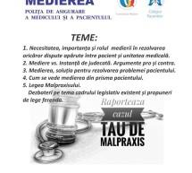 Eveniment Malpraxis – Colegiul Pacientilor sucursala Timisoara si Corpul Mediatorilor Timisoara