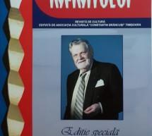 Un nou număr al revistei de cultură Coloana Infinitului
