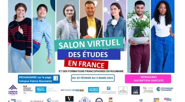 Salonul virtual al studiilor în Franța – webinarii și ateliere gratuite