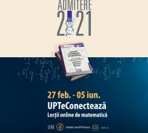 UPT demarează o nouă serie de cursuri gratuite de pregătire la matematică pentru bacalaureat și admitere
