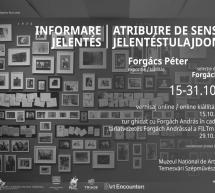 """""""Informare – Atribuire de sens"""", expoziție de Forgács Péter, găzduită de Muzeul Național de Artă Timișoara în perioada15 – 31 octombrie 2021"""